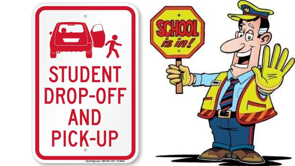 Elementary School Drop Off Reminder
