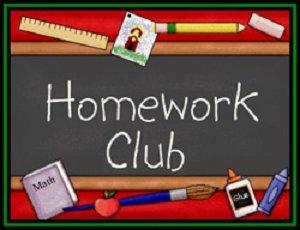 Homework Club sign